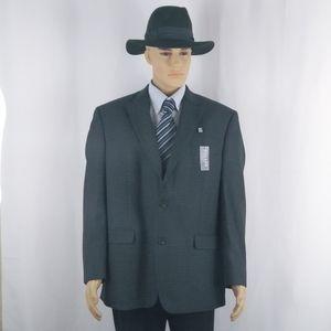 Chaps New gray blazer jacket mens size 44R (L).